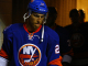 NY Islanders Anders Lee walks to the ice. (Brandon Titus/Inside Hockey)