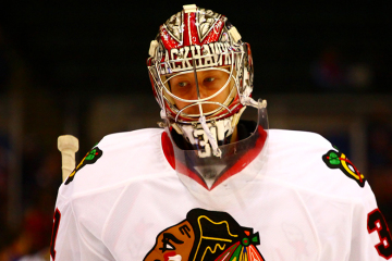 Chicago Blackhawks Goaltender Annti Raanta.(Brandon Titus/Inside Hockey)