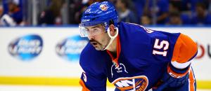 NY Islanders Right Wing Cal Clutterbuck. (Brandon Titus/Inside Hockey)