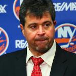 NY Islanders Head Coach Jack Capuano speaks  with the media. (Brandon Titus/Inside Hockey)