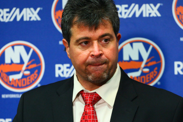 NY Islanders Head Coach Jack Capuano speaks  with the media. (Brandon Titus/Inside Hockey)