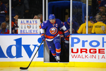 NY Islanders John Tavares takes the ice. (Brandon Titus/Inside Hockey)