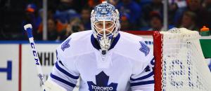 Toronto Maple Leafs Goaltender Jonathan Bernier. (Brandon Titus/Inside Hockey)