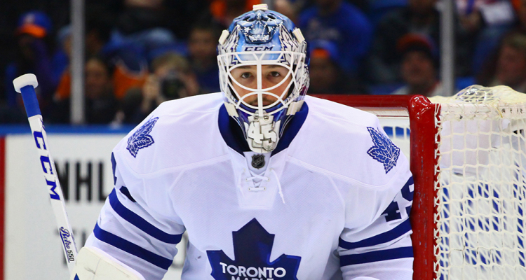 Toronto Maple Leafs Goaltender Jonathan Bernier. (Brandon Titus/Inside Hockey)