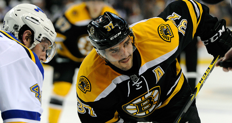 Boston Bruins Patrice Bergeron by Brian Fluharty