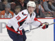 Nicklas Backstrom #19 of the Washington Capitals surveys the ice