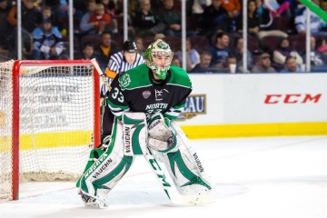 UND goalie Cam Johnson (UND Athletics)