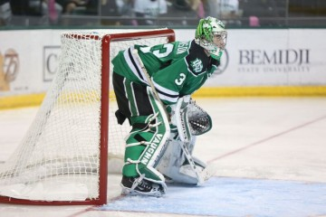 UND goalie Cam Johnson (Matt Schill UND Athletics)