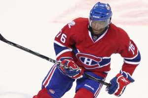 PK Subban #76 of the Montreal Canadiens