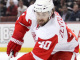 Detroit Red Wings forward Henrik Zetterberg skates past Anaheim
