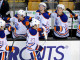Edmonton Oilers center Boyd Gordon (27) celebrates his first period goal