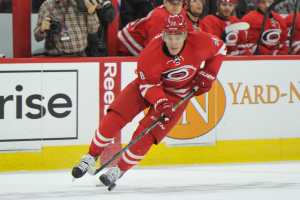 10 Nov 2014 Carolina Hurricanes Right Wing Alexander Semin (28) [3065] skates with the puck during the first period of the game between the Calgary Flames and the Carolina Hurricanes at the PNC Arena in Raleigh, NC. Carolina defeated Calgary 4-1.