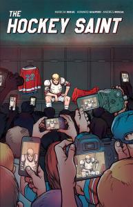 """""""The Hockey Saint"""" book cover by Howard Shapiro."""