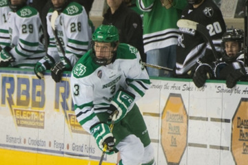 UND defenseman Tucker Poolman, (UND Athletics)
