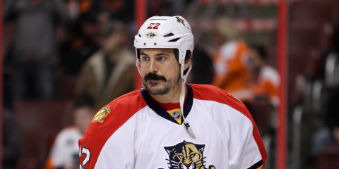 NHL 2013 - Feb 7 - FLA vs PHI - Right Wing George Parros (#22) of the Florida Panthers