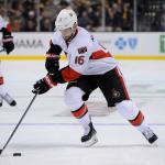 Dec 13, 2014; Ottawa Senators left wing Clarke MacArthur (16) during an NHL game in the TD Garden in Boston. (Photo: Brian Fluharty)