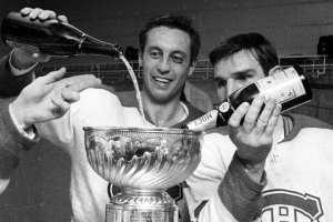 Jean Beliveau fills up the Stanley Cup