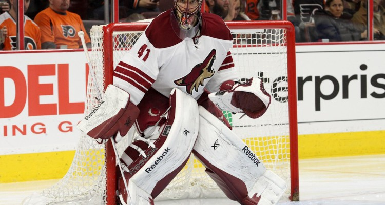 Goalie Mike Smith (#41) of the Arizona Coyotes