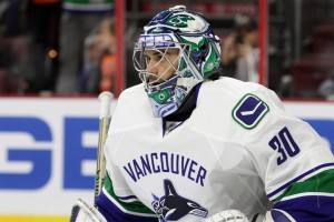Goalie Ryan Miller (#30) of the Vancouver Canucks