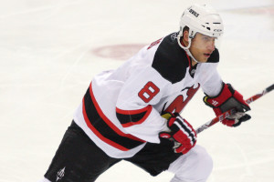 Dainius Zubrus #8 of the New Jersey Devils
