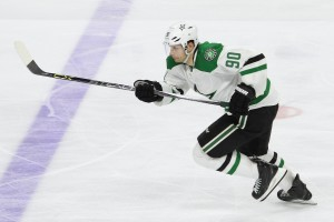 Center Jason Spezza (#90) of the Dallas Stars skates towards the blue line