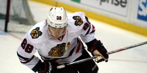 2nd-leading scorer in playoffs, Patrick Kane (#88)