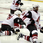Young Coyote superstars Max Domi (#16) and Anthony Duclair (#10)
