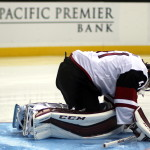 Arizona goaltender Mike Smith (#41)