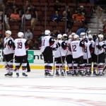 Coyotes celebrate a shutout win