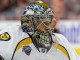 Goalie Pekka Rinne (#35) of the Nashville Predators during the warm-ups
