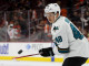 Center Tomas Hertl (#48) of the San Jose Sharks bounces a puck off of his stick during the warm-ups