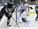 Mackenzie Skapski (GRN - 30) makes a save against Corey Cowick (FLA - 27).
