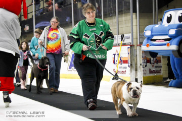 Pups on Parade as the Wheeling Nailers have their Pups N Pucks promotion.