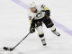 Right Wing Patric Hornqvist (#72) of the Pittsburgh Penguins passes the puck during the first period