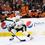 Defenseman Trevor Daley (#6) of the Pittsburgh Penguins receives the puck during the second period