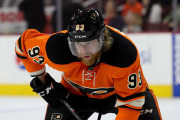 Right Wing Jakub Voracek (#93) of the Philadelphia Flyers during the third period