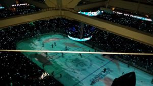Sharks vs. Blues Game 4 was about to get underway at SAP Center.