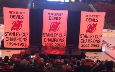 Devils fans gather announcement featuring Martin Brodeur.
