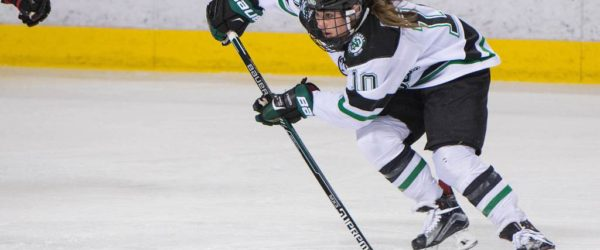 UND forward Charly Dahlquist against Minnesota State. (Photo credit: Conor Knuteson)