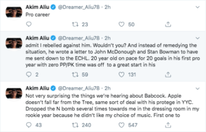 Akim Aliu accuses Bill Peters of racist comments..